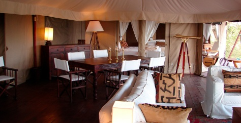 interior of suited tent  - Simba