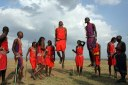kenyadigitnps.blogspot.com Adamu, the jumping dance, is performed by Masai warriors. One or two men perform this, while the other competitors form a circle around them.