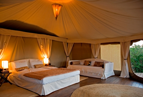 Luxury double tent bedroom