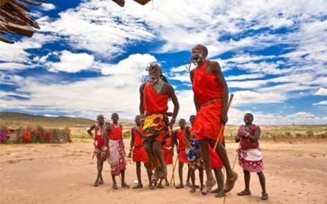 Maasai Warriors Dancing zuru kenya