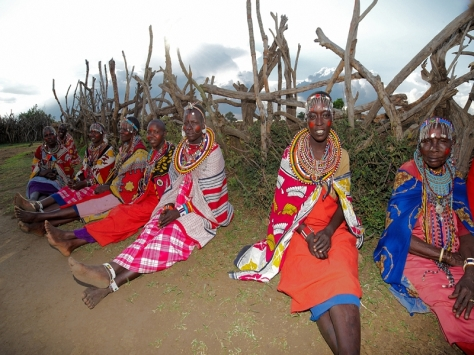 Masai Ladies in Manyatta zuru kenya