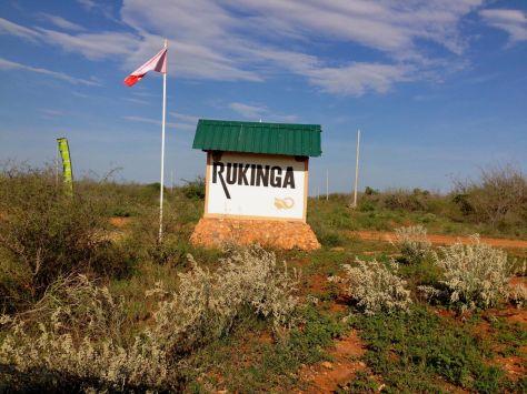 Rukinga sign zurukenya african village camp