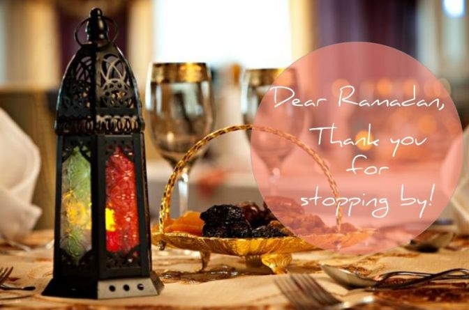 Dear Ramadan, Thanks for stopping by